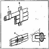 врепление провода скобами