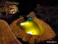 подсветка фонтанов и водоемов