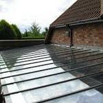 стеклянная крыша на даче