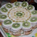 Легкий фруктовый торт