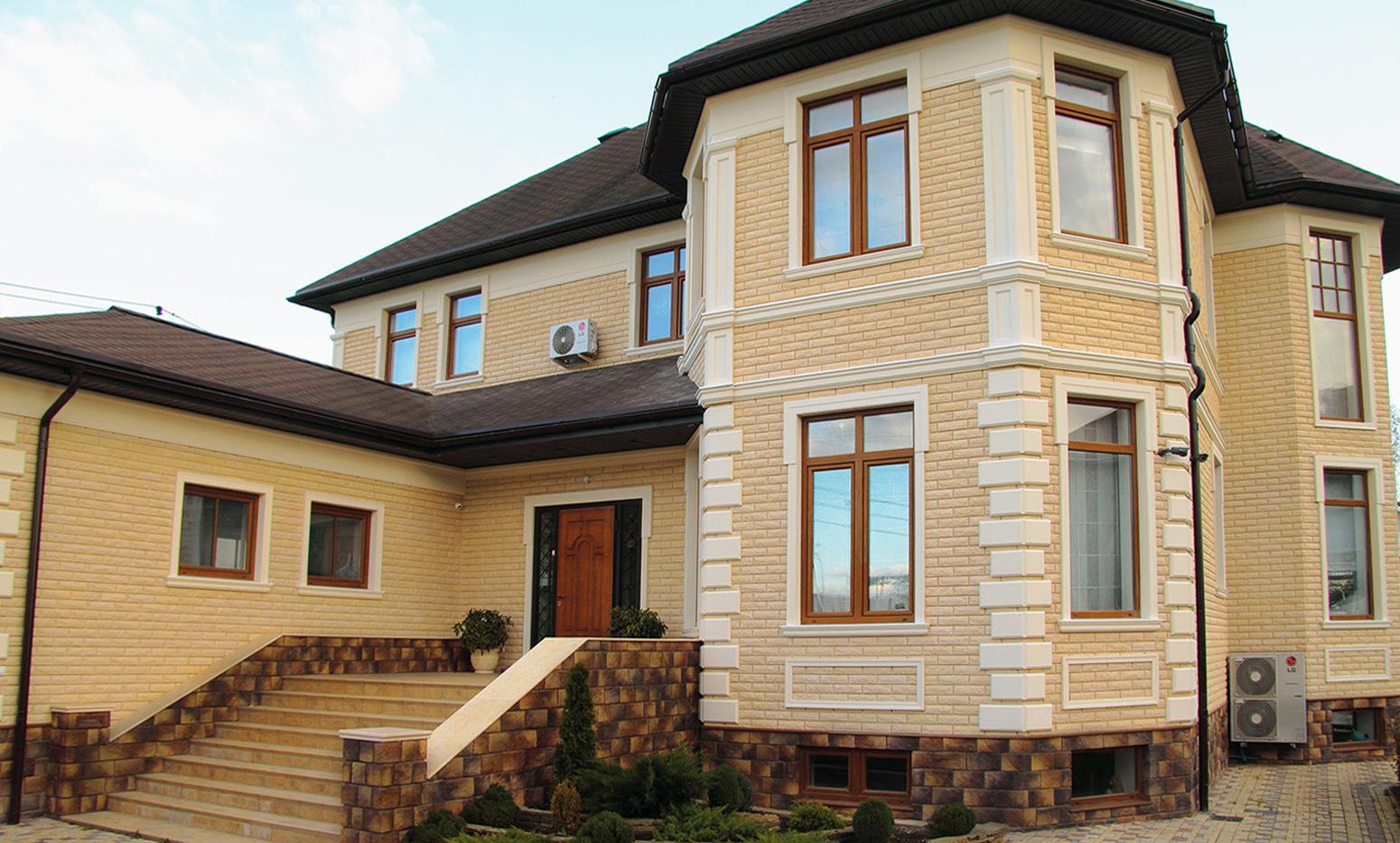 Украшаем загородный или дачный дом фасадным декором из полимербетона