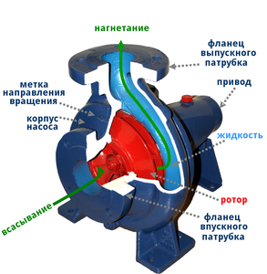центробежный насос конструкция