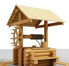 деревянный колодец фото