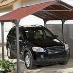 Какие бывают навесы для автомобиля на даче