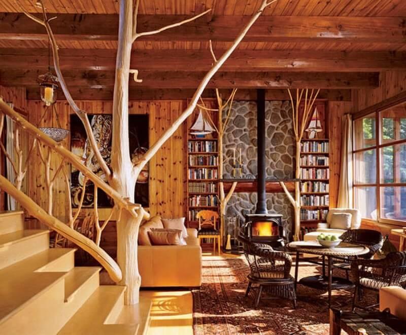 Особенности дизайна интерьера деревянного загородного дома