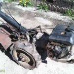 старинный мотокультиватор