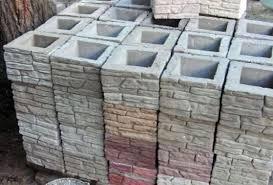 Ограды из пустотелых бетонных блоков